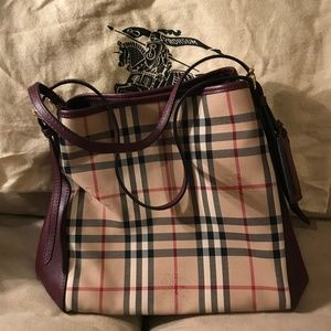 Burberry Horseferry Check Canterbury Panels Tote